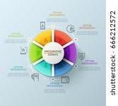 circular chart divided into 6...