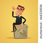 happy smiling rich businessman... | Shutterstock .eps vector #666220036