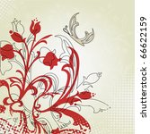 background with butterfly and... | Shutterstock .eps vector #66622159