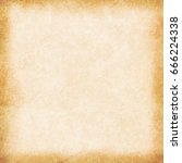 old empty stained beige vintage ... | Shutterstock . vector #666224338