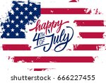 happy 4th of july independence... | Shutterstock .eps vector #666227455