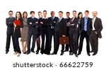 young attractive business... | Shutterstock . vector #66622759