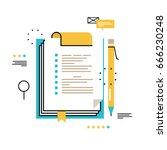 questionnaire clipboard ... | Shutterstock .eps vector #666230248