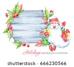 winter holidays illustration.... | Shutterstock . vector #666230566