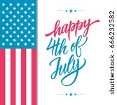 happy 4th of july usa... | Shutterstock .eps vector #666232582