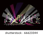 night and light the light under ... | Shutterstock .eps vector #66623344
