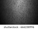 vector brick wall | Shutterstock .eps vector #666238996