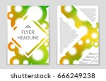 abstract vector layout... | Shutterstock .eps vector #666249238