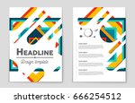 abstract vector layout... | Shutterstock .eps vector #666254512