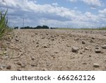 ground view on a gravel road... | Shutterstock . vector #666262126