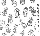 seamless summer pattern with... | Shutterstock .eps vector #666262582