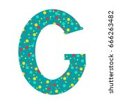 childish alphabet letter g