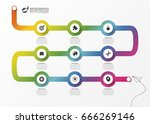 abstract colorful business path.... | Shutterstock .eps vector #666269146