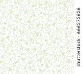 vegetable seamless pattern.... | Shutterstock .eps vector #666272626