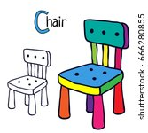Chair. Coloring Book Page....