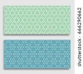 seamless horizontal borders... | Shutterstock .eps vector #666290662