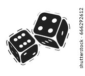 rolling dice. casino game dices ... | Shutterstock .eps vector #666292612