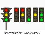 traffic light. electric sign...   Shutterstock .eps vector #666293992