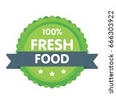 modern green eco badge. 100...   Shutterstock .eps vector #666303922