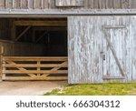 Rustic Barn Door Open Revealin...