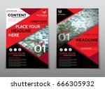 cover design annual report... | Shutterstock .eps vector #666305932