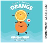 vintage fruit poster design... | Shutterstock .eps vector #666311632
