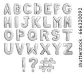 Full english alphabet of silver ...