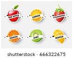 set of orange  lemon ...   Shutterstock .eps vector #666322675