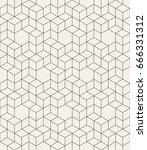 vector seamless pattern. modern ... | Shutterstock .eps vector #666331312
