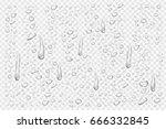 vector set of realistic... | Shutterstock .eps vector #666332845