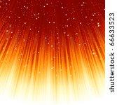 snowflakes and stars descending ... | Shutterstock .eps vector #66633523
