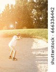 junior golfer making a nice... | Shutterstock . vector #666336442