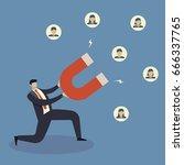 business concept of businessman ... | Shutterstock .eps vector #666337765