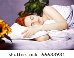 the image of a girl sleeping in ... | Shutterstock . vector #66633931