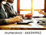 business people meeting working ... | Shutterstock . vector #666344962