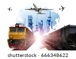 global business of container... | Shutterstock . vector #666348622