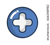 cross clinic symbol to... | Shutterstock .eps vector #666348982
