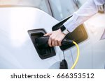 person transportation by eco... | Shutterstock . vector #666353512
