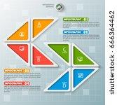 vector abstract 3d paper... | Shutterstock .eps vector #666364462