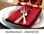 Elegant Table Setting With For...
