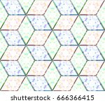 colorful seamless rhombus... | Shutterstock . vector #666366415