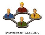 connection icons | Shutterstock .eps vector #66636877