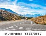 regional road at lake pukaki... | Shutterstock . vector #666370552