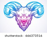 hand drawn beautiful artwork of ... | Shutterstock .eps vector #666373516