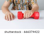 physical therapy  elderly... | Shutterstock . vector #666374422