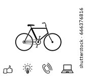 bicycle vector icon | Shutterstock .eps vector #666376816
