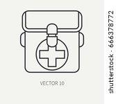 line flat vector hunt and... | Shutterstock .eps vector #666378772