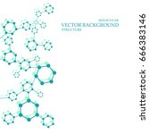structure molecule and... | Shutterstock .eps vector #666383146
