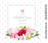 square floral vector design... | Shutterstock .eps vector #666383656