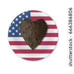 usa independence day   hart... | Shutterstock . vector #666386806